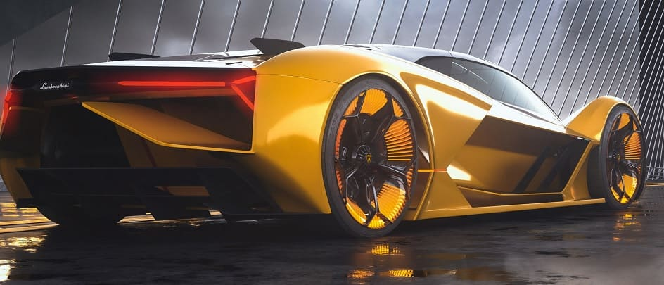 Lamborghini Terzo Millennio Rear Fe
